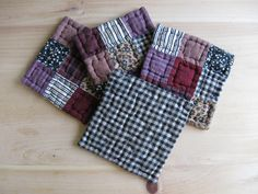 Quilted Coasters Fabric Coasters Primitives Country by dlf724, $17.00