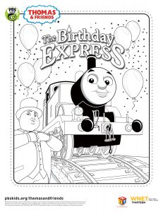 Free Thomas and Friends printables from PBS