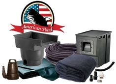 """American Pond Freedom Series 8' x 11' Mini Pond Kit by American Pond Freedom Series. $684.00. Pond Skimmer-6"""" Weir 3800 gph with Lifetime Warranty on body. 12'x15' Firestone 45 Mil EPDM Liner and underlayment. 1200 GPH Waterfall Pump - 2 year warranty. Biological 14"""" Waterfall with Lifetime Warranty on body. 1.5"""" x 20' Spiral Kink Free Pipe. American Pond brings you the Freedom series of pond kits. Featuring the highest quality materials, we offer a wide assortm..."""
