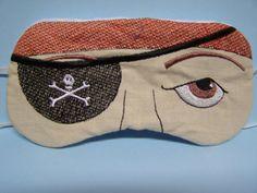 Embroidered Eye Mask, Sleep Mask, Sleeping, Kid Mask, Adult Mask, Cute Mask, Sleep, Slumber Mask, Pirate Design, Handmade, Custom, Eye Shade...