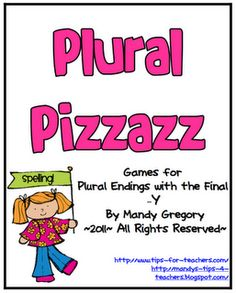 "FREE Plural Pizzazz: Games for Plural Endings with the Final ""Y"""