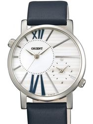 Orient UB8Y003W Valentia Dual Time Watch with a white dial.