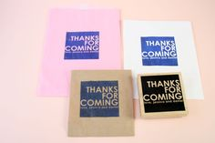 Image of Thanks for coming rubber stamp