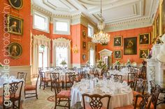 The dining room at Weston Park, Shropshire Weston Park, Table Settings, Dining Room, Wedding Photography, Place Settings, Wedding Photos, Wedding Pictures, Dining Rooms, Restaurant