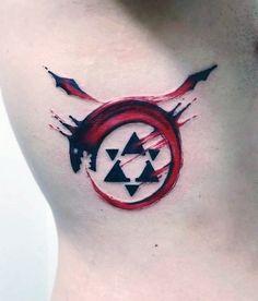 Cool Dragon Enso Mens Rib Cage Side Tattoos
