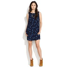 Very breezy and casually elegant for summer...Thistle thorn shift dress at madewell.com