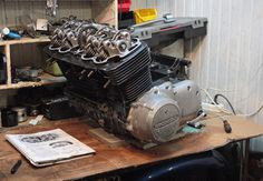 Okay, let's continue our story about Honda SOHC engine. I completely disassembled engine, made all measuring of its parts and as a result has got a Honda Cb750, Engine Rebuild, Engineering, Garage, Carport Garage, Garages, Technology, Car Garage, Carriage House