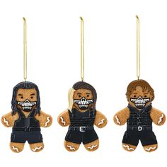 No matter where you hang it, this Gingerbread Man Ornament will show your support for your favorite WWE Superstar this Holiday season! Features official Superstar logo and colors Measures approximately 3.5