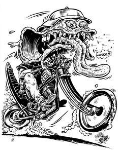 indiana jones and ghostrider coloring pages | Biker, motorcycle, chopper, skull, skeleton, harley ...