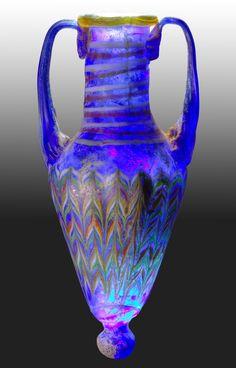 antique glass amphora