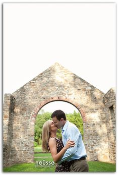 Jessica and John Engagement portrait session at Lockridge Furnace Park and Museum in Alburtis, PA. Lehigh Valley Wedding Photographer. Couple portrait. Summer outdoor portrait. Outfit idea for engagement photo shoot.