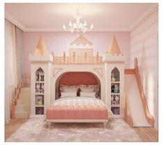 Room Design Bedroom, Girl Bedroom Designs, Room Ideas Bedroom, Home Room Design, Dream Bedroom, Castle Beds For Girls, Bunk Beds For Girls Room, Girls Bedroom, Princess Bunk Beds