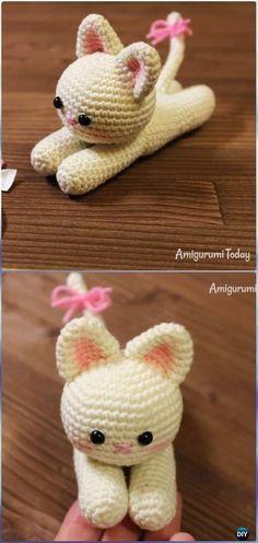 Crochet Amigurumi Lying Kitten Free Pattern - Crochet Amigurumi Cat Free Patterns