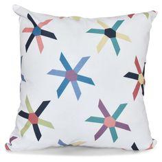 E by Design Beach Vacation Pinwheel Pop Decorative Pillow - PGN418BL14-16