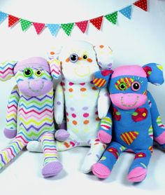 103 Best Sock monsters images in 2017 | Sock snowman, Fabric