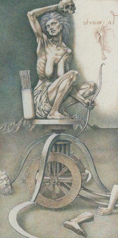 DV- XIII - Der Tod | Die Bilder aus dem (Leonardo) Da Vinci Tarot werden abgebildet mit freundlicher Erlaubnis von Lo Scarabeo.