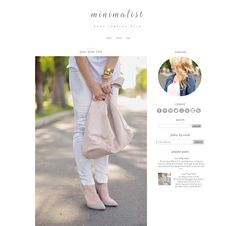 New Blogger Template - Minimalist - Blogger Theme - Give your blog a modern and clean makeover! CWebsBiz, $25.00