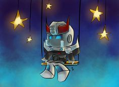 Chibi Prowl in the Stars by The-Starhorse.deviantart.com on @deviantART