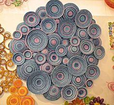 ZZZ37 decoração artesanato com jornal círculos coloridos