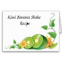 Kiwi Recipe Card