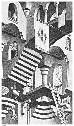 Escher M Optical Illusion Art | ... And Convex Detail - Optical Illusion M C Escher Art Wallpaper Picture