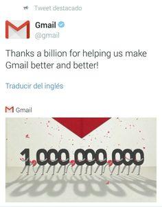 #Gmail ha llegado a los mil millones de usuarios