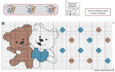 Вышивка медвежат для детского постельного белья. Схема (1) (700x439, 217Kb)