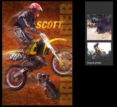 I can create a custom motorcross sports poster of your child using your photos. View and order yours at http://anythingphotos.com/projects/photos/sports