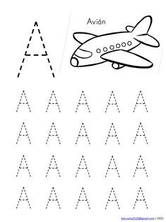 Alphabet in capital letters with drawings Free Printable Alphabet Worksheets, Handwriting Worksheets For Kids, Kindergarten Math Worksheets, Preschool Printables, Preschool Writing, Numbers Preschool, Preschool Learning Activities, Alphabet Activities, Free Images