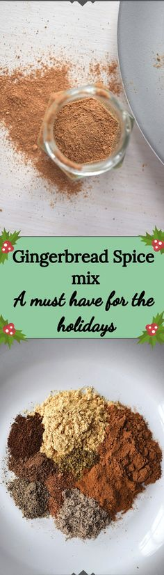 Gingerbread Spice mix is a must to have on hand during the Holidays. It's great for adding Gingerbread flavor to your favorite treats like cookies, cakes, and your morning coffee. Gluten Free Christmas Recipes, Gluten Free Desserts, Gluten Free Recipes, Homemade Spices, Cupcakes, Spice Mixes, Christmas Baking, Clean Eating Recipes, Sweet Recipes