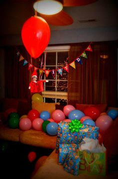 1000 images about birthday elf on the shelf on pinterest for Elf on the shelf balloon ride