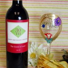 Personalized Birthday Wine Labels