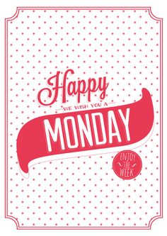 Happy Monday Bag / Happy Monday bolsa de tela par Amaiaisback, €15,00 //