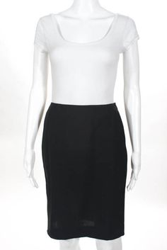 53b123f8b8 Balenciaga Black Wool Double Slit Back Pencil Skirt Size EUR 40 #fashion  #clothing #