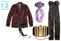 The Dinner Date — A holiday dinner date is the time to pull out all the stops. We're talking an attention-commanding LBJ (little black jumpsuit, that is), badass pumps, and a playfully sexy fragrance set at maximum flirt. Now, that's how you make a showstopping entrance.  All items by GUESS. Girl Belle Eau De Toilette, $40 -$62; Herringbone Velveteen Blazer, $168; Chloe Jumpsuit, $108; Black and Gold-Tone Minaudiere, $45; Remonia Peep-Toe Shoes with Ankle Buckle, $115.