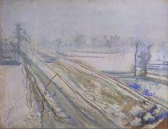 Stanisław Wyspiański, Widok z okna na Kopiec Kościuszki  |  1904, pastel, papier, 47,4 × 62 cm, Muzeum Narodowe w Warszawie