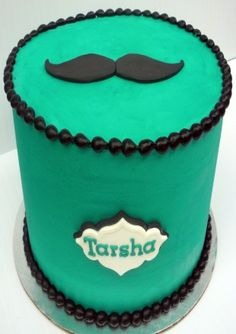 Mustache Cake from The Cupcake Shoppe in Raleigh