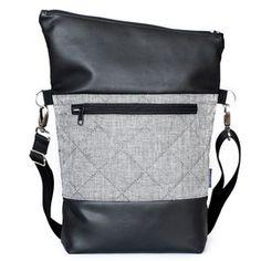 Schwarz Grau gesteppt - Hansedelli - modernes, individuelles Design