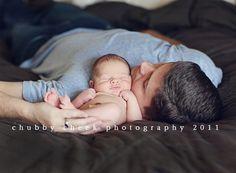 Newborn and Daddy pose