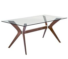 Heal's | Calligaris Tokyo Dining Table Glass/Walnut - Rectangular Tables - Dining Tables - Furniture