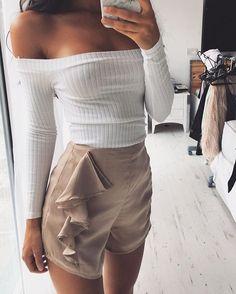 Silky Frill Shorts | #SaboSkirt The basic dressy shorts you neeeeed! @bethanymoore