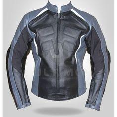 silver and black tecnik motorcycle jackets | Classic Black Silver Motorcycle Jacket