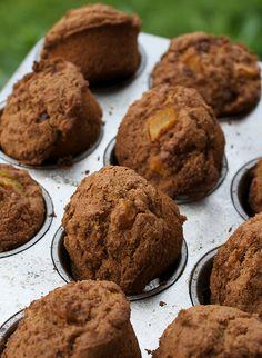 vegan brown sugar peach muffins for Madeline Brown Sugar Peaches, Peach Muffins, Vegan Desserts, Vegan Recipes, Vegan Treats, Vegan Foods, Dessert Recipes, Vegan Baking, The Fresh