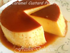 Caramel custard is an easy to make dessert with simple recipe, readily available ingredients and minimal making time . Could be considered best for those who wish to set foot into the world of dessert making. It has a creamy custard topped with a silky caramel layer making it fluffy and good in appearence. For recipe, click here... http://www.freshndelicious.in/2013/12/caramel-custard-pudding.html