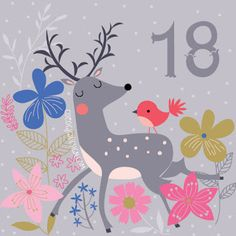 Can go forward or backwards to see - Today's advent is a reindeer with a little bird :) Christmas Calendar, Diy Advent Calendar, Noel Christmas, Christmas Countdown, Christmas Greetings, Holiday Cards, Christmas Crafts, Xmas 2015, Christmas Illustration