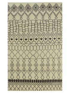 Moroccan Hand-Knotted Rug - Gilt Home