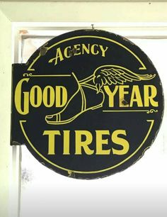 Original Goodyear Tires Agency Porcelain Sign