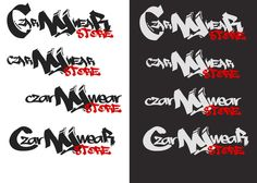 Logo design ideas for a clothing shop owned by a polish comapny based in London UK.