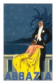 Abbazia, Sophisticated Couple Premium Poster