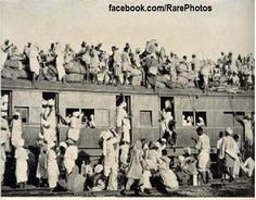 Photo of train from Pakistan in 1947 after India's partition